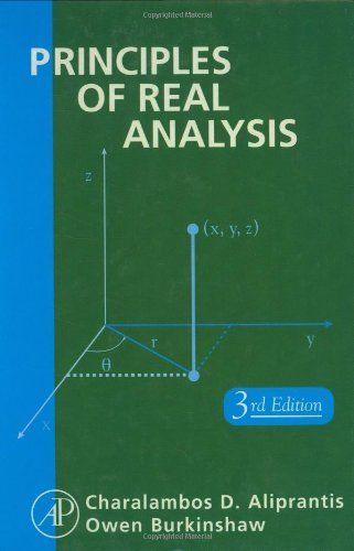 PDF Principles of Real Analysis Third Edition
