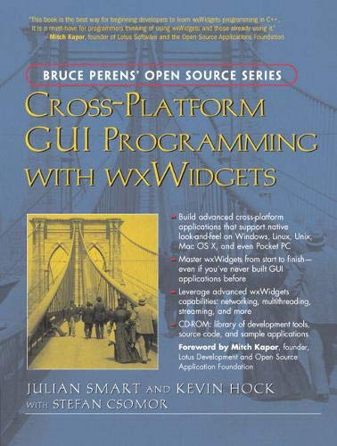 Book Cover: Cross-Platform GUI Programming with wxWidgets (Bruce Perens Open Source)