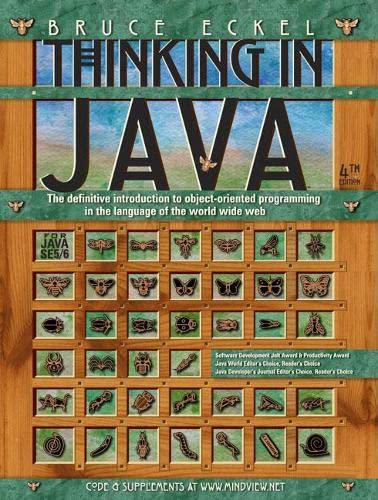 Thinking in Java Book Cover Picture