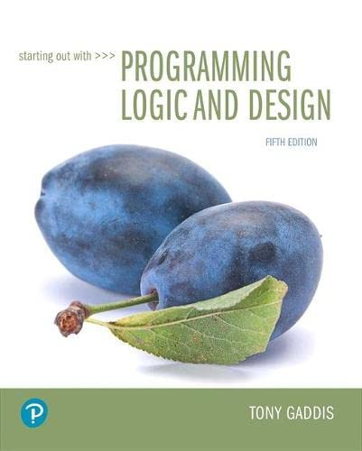 Starting Out with Programming Logic and Design, 5th Edition Pearson 第1张