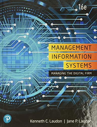 Management Information Systems: Managing the Digital Firm, 16th Edition Pearson 第1张