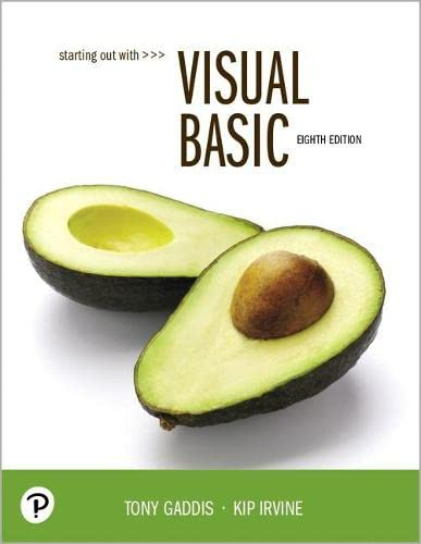 Starting Out With Visual Basic, 8th Edition 电子书 第1张