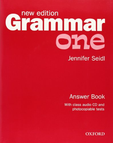 Grammar: Answer Book and Audio CD Pack Level 1