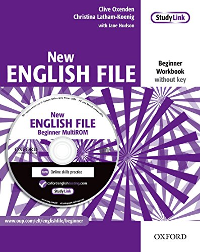 New English File: Workbook without Key and MultiROM Pack Beginner level: Six-level General English Course for Adults