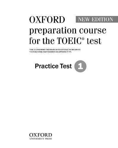 Oxford Preparation Course for the TOEIC  Test 1