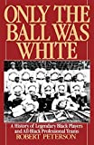 Only the Ball Was White: A History of Legendary Black Players and All-Black Professional Teams - book cover picture