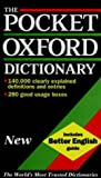 The Pocket Oxford Dictionary of Current English - book cover picture
