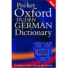 Pocket Oxford-Duden German Dictionary: German/English English/German