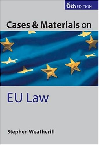 Cases and Materials on EU Law (Cases & Materials)