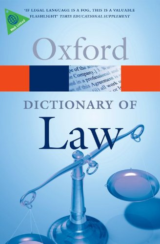 A Dictionary of Law (Oxford Dictionary of Law)