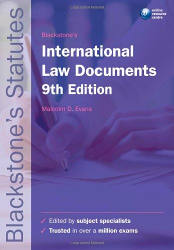 Blackstone's International Law Documents (Blackstone's Statutes)