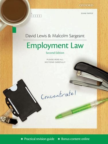 Employment Law Concentrate (Concentrate Law Revision Guide)