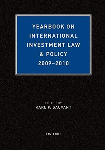 Yearbook on International Investment Law & Policy 2009-2010