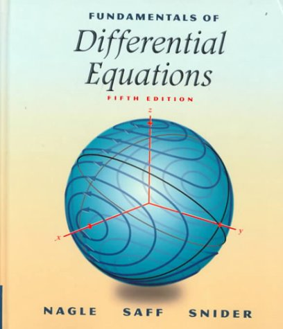 PDF Fundamentals of Differential Equations 5th Edition
