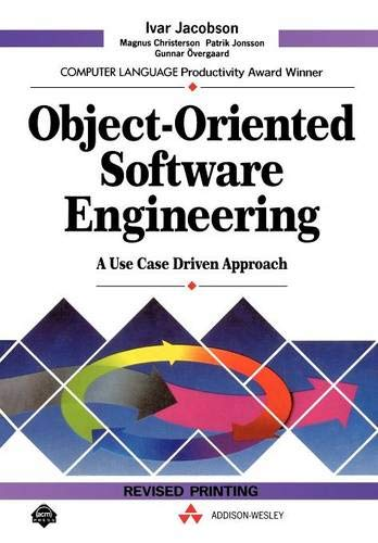 732. Object Oriented Software Engineering: A Use Case Driven Approach