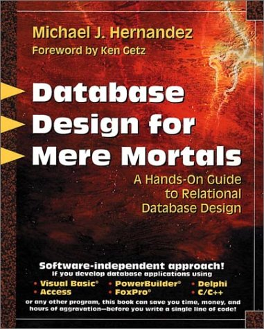 495. Database Design for Mere Mortals: A Hands-On Guide to Relational Database Design