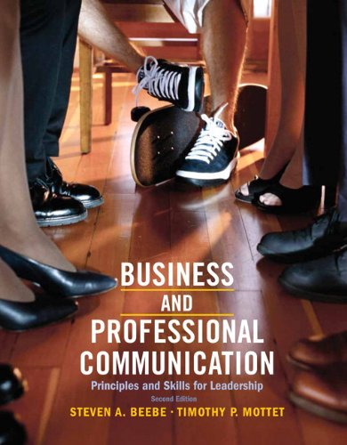 PDF Business Professional Communication Principles and Skills for Leadership 2nd Edition