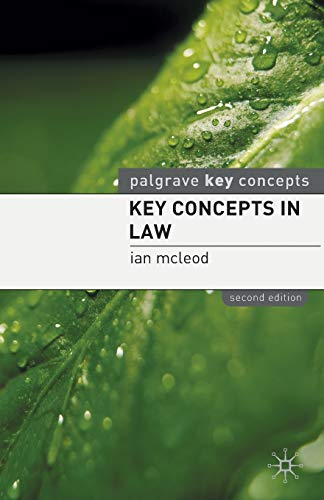 Key Concepts in Law (Palgrave Key Concepts)