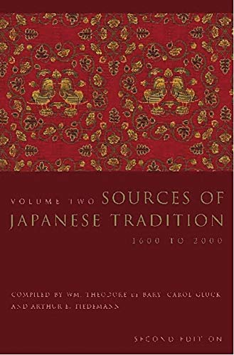 PDF Sources of Japanese Tradition Volume 2 1600 to 2000 Introduction to Asian Civilizations vol 2