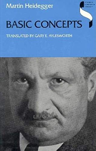 Basic Concepts (Studies in Continental Thought), Heidegger, Martin