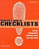 Buy The Manager's Book of Checklists: Instant Management Solutions When You Need Them from Amazon