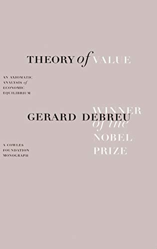 The Theory of Value, Gerard Debreu