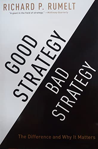 PDF Good Strategy Bad Strategy The Difference and Why It Matters