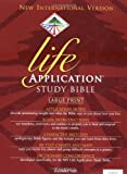 NIV Life Application Study Bible, Large Print, Indexed - book cover picture