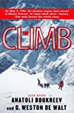 The Climb: Tragic Ambitions on Everest - book cover picture