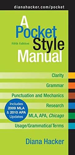 A Pocket Style Manual, Fifth Edition, Hacker, Diana