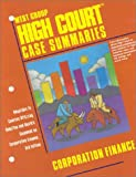 High Court Case Summaries: Corporation Finance