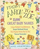 From Aaron to Zoe : 15,000 Great Baby Names - book cover picture
