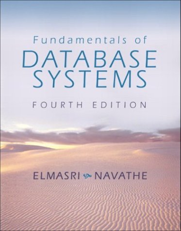 PDF Fundamentals of Database Systems 4th edition