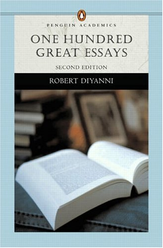 find essays through bobcat essays and essayists research one hundred great essays by robert diyanni
