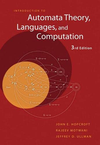 769. Introduction to Automata Theory, Languages, and Computation (3rd Edition)