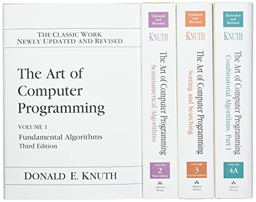 369. The Art of Computer Programming, Volumes 1-4A Boxed Set