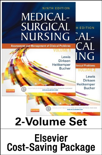 MEDICAL-SURGICAL NURSING - TWO-VOLUME TEXT AND STUDY GUIDE PACKAGE: ASSESSMENT AND MANAGEMENT OF CLINICAL PROBLEMS 9ED