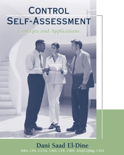 Control Self-Assessment: Concepts and Applications