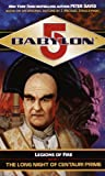 Babylon 5 book cover: The Long Night of Centauri Prime