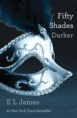 50 Shades Darker: a grey mardi gras mask against a grey background