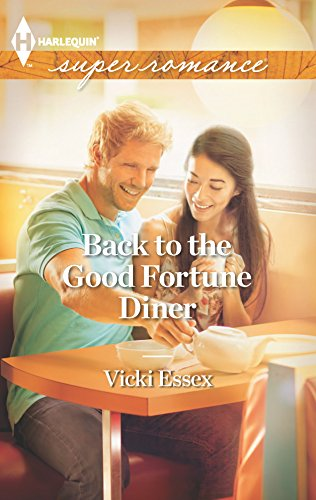 Back to the Good Fortune Diner - Vicki Essex: an Asian woman and a blonde man in a sunlight diner, pouring and drinking tea