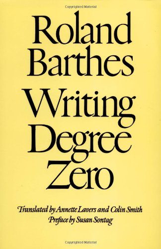 Writing Degree Zero, Roland Barthes