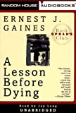A Lesson Before Dying - book cover picture