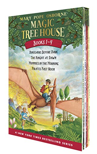 Magic Tree House Boxed Set, Books 1-4: Dinosaurs Before Dark, The Knight at Dawn, Mummies in the Morning, and Pirates Past Noon - Mary Pope OsborneSal Murdocca