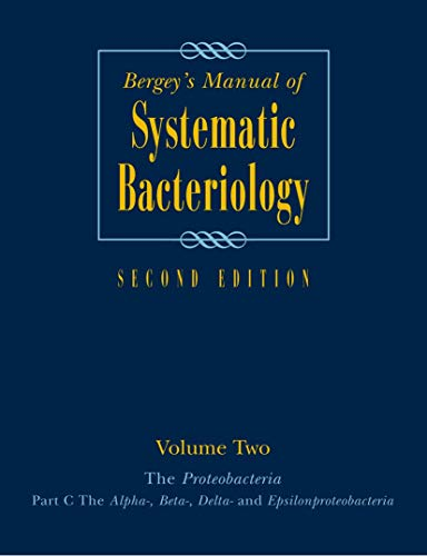 BERGEYS MANUAL OF SYSTEMMATIC BACTEROLOGY 2ED VOL 2 PART B