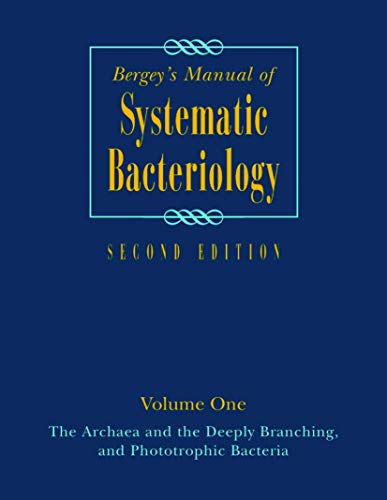 BERGEY'S MANUAL OF SYSTEMATIC BACTERIOLOGY, 2ED, VOL. 1