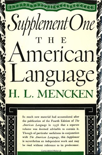 American Language, Supplement One