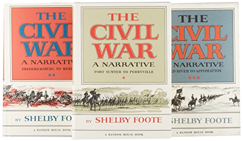 The Civil War, 3-Volume Box Set, Foote, Shelby