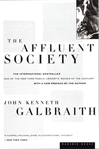 The Affluent Society Book Cover Picture