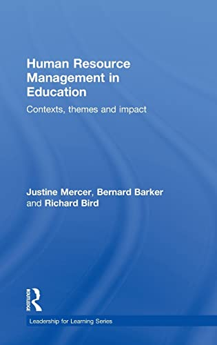 PDF Human Resource Management in Education Contexts Themes and Impact Leadership for Learning Series